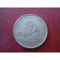 25 центов 1987 год Восточные Карибы
