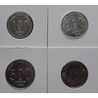 Индонезия 100-200-500-1000 рупий 2016 4 монеты UNC