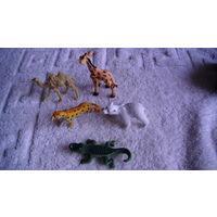 Маленькие фигурки животных. 5 шт. распродажа