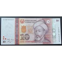 Таджикистан. 10 сомони 2018 [UNC]
