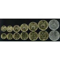 СНГ: Таджикистан 2011 - набор 7 монет 1, 2, 5, 10, 20, 50 дирам / дирамов, 1 сомони UNC