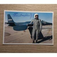 Фото с автографом сына лётчика Гарри Пауэрса, Фрэнсиса Гарри Пауэрса младшего.