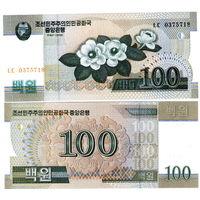 Северная Корея. КНДР.  100 вон  2008 год  UNC