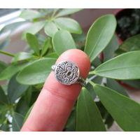 Старинный серебряный перстень с Растительным славянским символом  RRR !