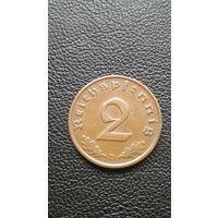 2 пфеннинга 1937г. Германия (3-й рейх)