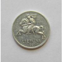 1 centas Литва 1991г.