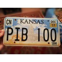 Автомобильный номерной знак США штат Канзас