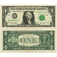 США. 1 доллар (образца 2003 года, B, Нью-Йорк, P515a)