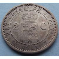 Испания. 2 сантима 1911