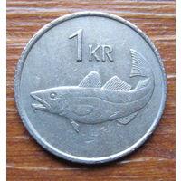 Исландия. 1 крона 1981 г.