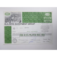 США Флорида 1972 год - Акция Строительной Инвестиционной Группы / 30,5 х 20,5 см