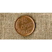 Люксембург 25 сантимов 1946 ///(ON)