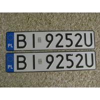 Автомобильный номер Польша BI9252U