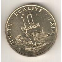 Джибути 10 франк 2016