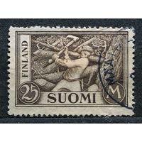Лесоруб. Финляндия. 1952. Полная серия 1 марка.