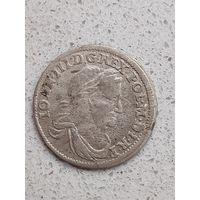 6 грош 1677 серебро