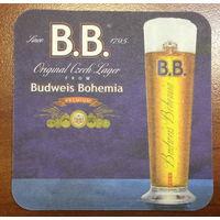 Подставка под пиво Budweis Bohemia /Чехия, Россия/