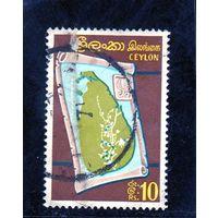 Шри Ланка. Ми-352. Карта Цейлона. 1966