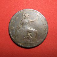 Великобритания 1 пенни, 1896. Хорошая!