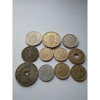 Монеты Испании. Все разные.