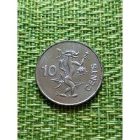 Соломоновы острова  10 центов 2005 г ( чертёнок )