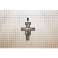 Металлический крестик, размер 5*3.5 см., клеймо Италия.