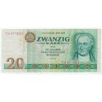 Германия, 20 марок 1975 год.