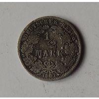 1/2 марки Германия 1907 г.