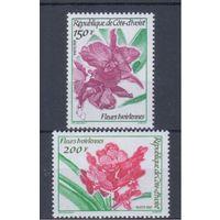 [1483] Кот ди Ивуар 1991. Флора.Цветы.Орхидеи.