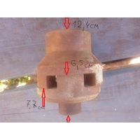 Муфта зубчатая соединительная для передачи крутящего момента от двигателя к насосу.