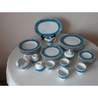 Сервиз столовый + чайный 6 персон 34 предмета фарфор Mitterteich Bavaria Германия.