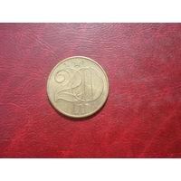 20 геллеров 1989 год Чехословакия