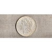 США 1 доллар  1881 /точная копия серебрение(Nv)