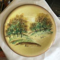 Тарелка настенная Родные Просторы, керамика/ручная роспись