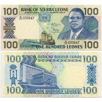 Сьерра Леоне. 100 леоне (образца 1990 года, P18c, UNC)