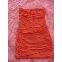 Фирм платье оранжевый яркий цвет 42-44