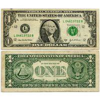 США. 1 доллар (образца 2003 года, 2003A, L, Калифорния, P515b)