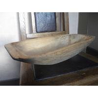 Маленькое (44Х23Х10) деревянное корыто.