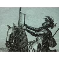 """Гравюра """"Завиша"""", Речь Посполитая (Италия, нач. ХІХ века)"""