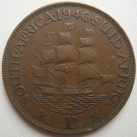 ЮАР 1 пенни 1940 г. (d)