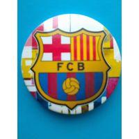 """Значок с Логотипом Футбольного Клуба """"Барселона"""" Испания - Диаметр 5.5 см."""