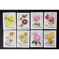 Вьетнам 1978 г. Цветы. Флора, полная серия из 8 марок #0189-Ф1