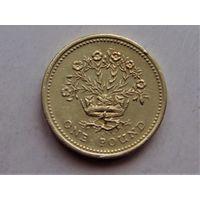 Великобритания 1 фунт 1991