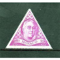 Монако.Ми-322 .Франклин Делано Рузвельт (1882-1945) Серия: Франклин Делано Рузвельт, годовщина смерти. 1946.