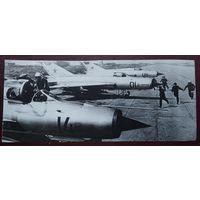 "По самолетам! Военные маневры ""Днепр"". Фото 1967 г. 10х22.5 см."