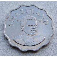 """Эсватини """"Свазиленд"""". 5 центов 2009 год KM#48  """"Король Мсвати III"""" """"Белая лилия"""""""