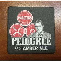 Подставка под пиво Pedigree Amber Ale /Великобритания/