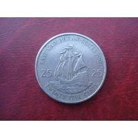 25 центов 2002 год Восточные Карибы