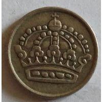 Швеция 10 эре 1953 серебро