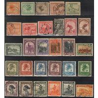 Бельгийское Конго Подборка гашеных и чистых марок 1920-1940-х годов в количестве 29-ти гашеных и чистых марок